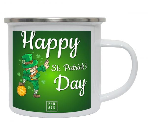 Happy St. Patrick's Day | Emaille Becher