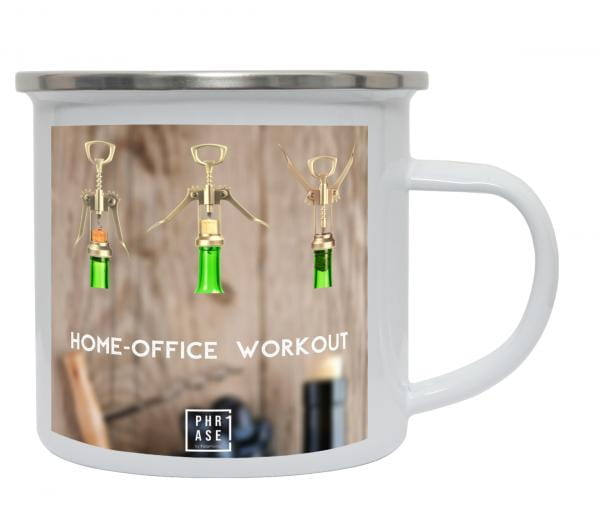 Home-Office Workout | Emaille Becher