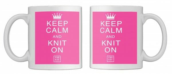 Keep calm and knit on | Tasse