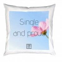 Single and proud | Kissen mit Füllung