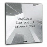 Explore the world around you | Wandbild