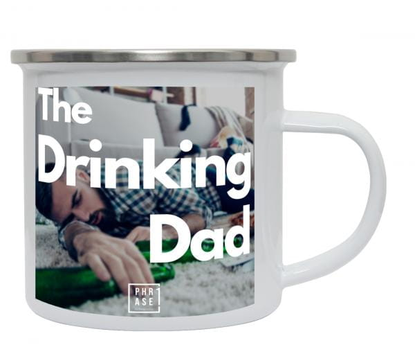 The drinking Dad | Emaille Becher