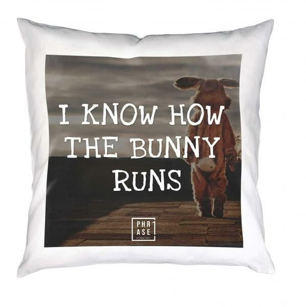 I know how the bunny runs | Kissen mit Füllung